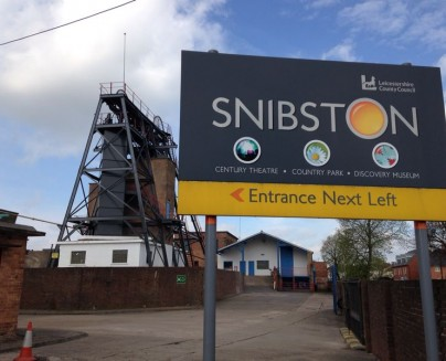 an image of the sign to Snibston