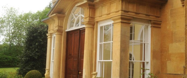 an image of the door of Blockley Mansion