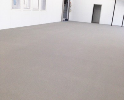an image of an epoxy floor installation in a project in Rushden