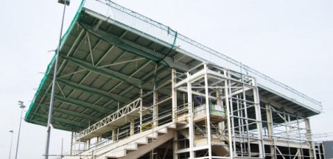 an image of a stand at the Moseley RFC Birmingham stadium