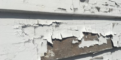 An image of flaking paint from a wall