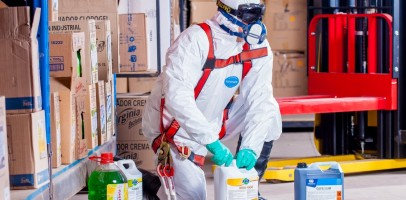 an image of someone preparing to apply protective coatings