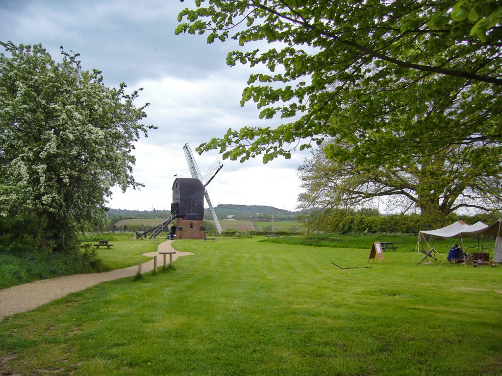an image of the windmill at the Avoncroft open air museum